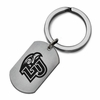 Liberty Flames Stainless Steel Key Ring