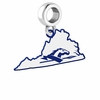 Longwood Lancers Logo Dangle Charm