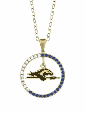 Longwood Lancers Sapphire and Diamond Necklace