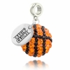Louisiana Lafayette Ragin' Cajun Crystal Drop Charm
