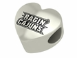 Louisiana Lafayette Ragin' Cajuns Heart Shape Bead