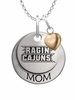 Louisiana Lafayette Ragin' Cajuns MOM Necklace with Heart Charm