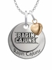Louisiana Lafayette Ragin' Cajuns with Heart Accent