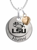 Louisiana State Tigers Alumni Necklace with Heart Accent