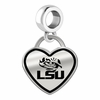 Louisiana State Tigers Border Heart Dangle Charm