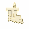 Louisiana Tech Bulldogs 14K Yellow Gold Natural Finish Cut Out Logo Charm