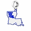 Louisiana Tech Bulldogs Logo Dangle Charm