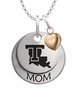 Louisiana Tech Bulldogs MOM Necklace with Heart Charm