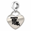 Louisiana Tech Engraved Heart Dangle Charm