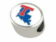 Louisiana Tech Enamel Bead