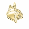 Louisville Cardinals 14K Yellow Gold Natural Finish Cut Out Logo Charm