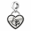 Louisville Cardinals Border Heart Dangle Charm