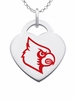 Louisville Cardinals Color Logo Heart Charm