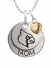 Louisville Cardinals MOM Necklace with Heart Charm