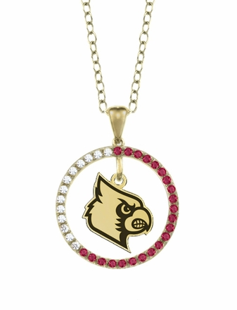 Louisville Cardinals Ruby and Diamond Necklace