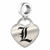Louisville Engraved Heart Dangle Charm