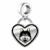 Loyola Chicago Ramblers Border Heart Dangle Charm