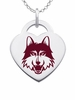 Loyola Chicago Ramblers Logo Heart Pendant With Color