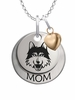 Loyola Chicago Ramblers MOM Necklace with Heart Charm