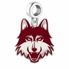 Loyola Chicago Ramblers Silver Logo and School Color Drop Charm
