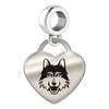 Loyola Engraved Heart Dangle Charm