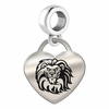 Loyola Marymount Engraved Heart Dangle Charm