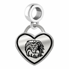 Loyola Marymount Lions Border Heart Dangle Charm