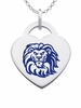 Loyola Marymount Lions Color Logo Heart Charm