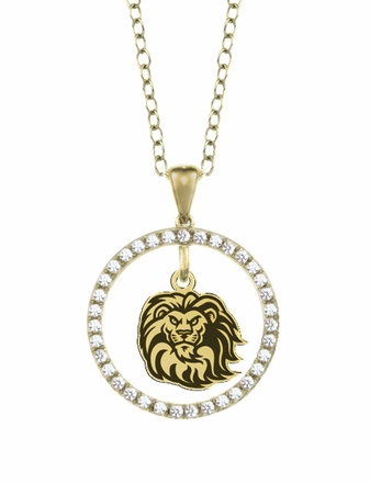Loyola Marymount Lions Gold and Diamond Circle Pendant