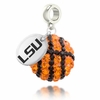 LSU Tigers Crystal Drop Charm