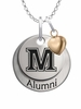 Maine Black Bears Alumni Necklace with Heart Accent