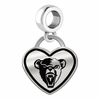 Maine Black Bears Border Heart Dangle Charm