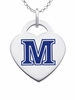 Maine Black Bears Color Logo Heart Charm