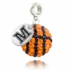 Maine Black Bears Crystal Drop Charm