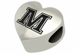 Maine Black Bears Heart Shape Bead