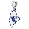 Maine Black Bears Logo Dangle Charm