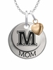 Maine Black Bears MOM Necklace with Heart Charm