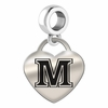 Maine Engraved Heart Dangle Charm
