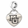 Marquette Engraved Heart Dangle Charm