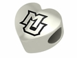 Marquette Golden Eagles Heart Shape Bead