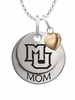 Marquette Golden Eagles MOM Necklace with Heart Charm