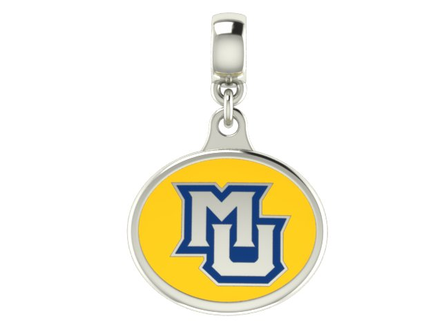 Wholesale Marquette Golden Eagles Silver Charm Fits Beaded Charm