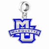 Marquette Golden Eagles Silver Logo and School Color Drop Charm