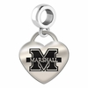Marshall Engraved Heart Dangle Charm