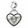 Marshall Thundering Herd Border Heart Dangle Charm