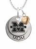 Marshall Thundering Herd MOM Necklace with Heart Charm