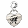 Maryland Engraved Heart Dangle Charm
