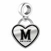Maryland Terrapins Border Heart Dangle Charm