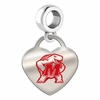Maryland Terrapins Color Heart Dangle