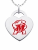 Maryland Terrapins Logo Heart Pendant With Color